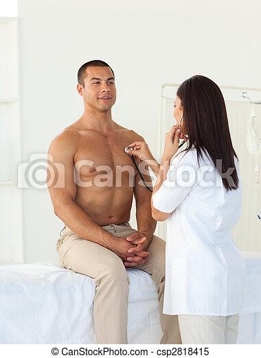 檢查, 病人, 女性, 脈衝, 醫生 - csp2818415