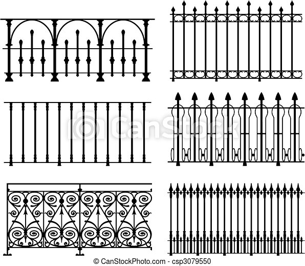 欄杆, 柵欄 - csp3079550