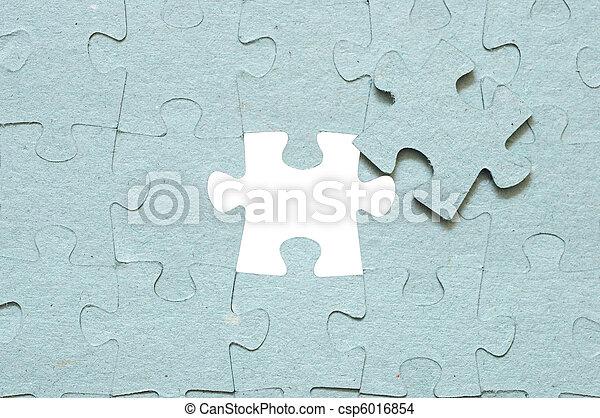 欠けている, パズル小片, 灰色 - csp6016854