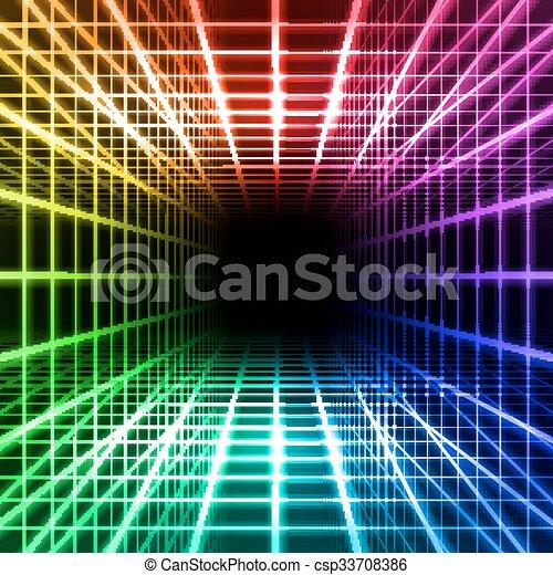 次元, 格子, スペース - csp33708386