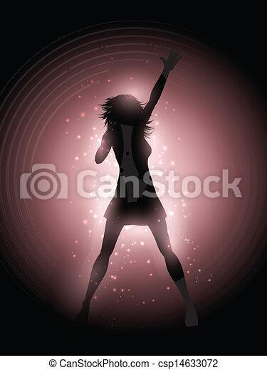 歌手, 実行, 女性 - csp14633072