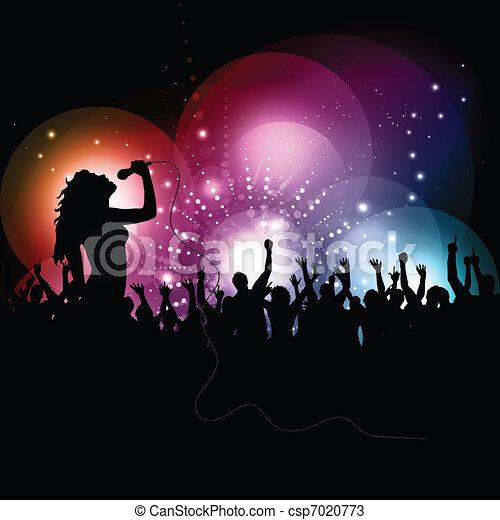 歌手, 実行, 1207, 女性 - csp7020773