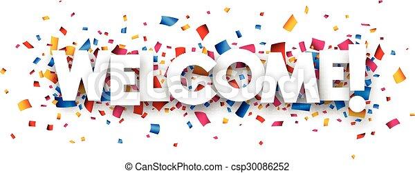歓迎された 印 - csp30086252
