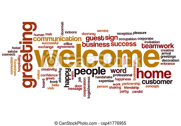 歓迎, 単語, 雲 - csp41776955