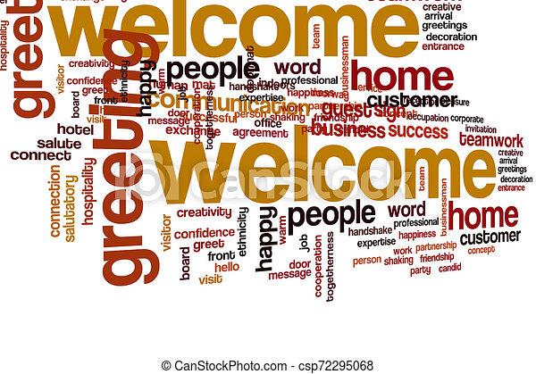 歓迎, 単語, 雲 - csp72295068