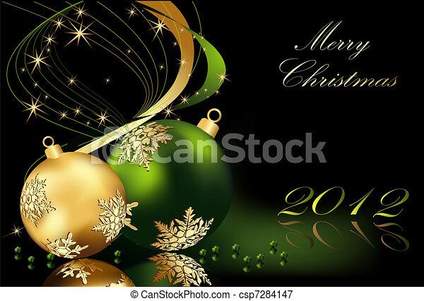 歡樂的聖誕節, 背景 - csp7284147