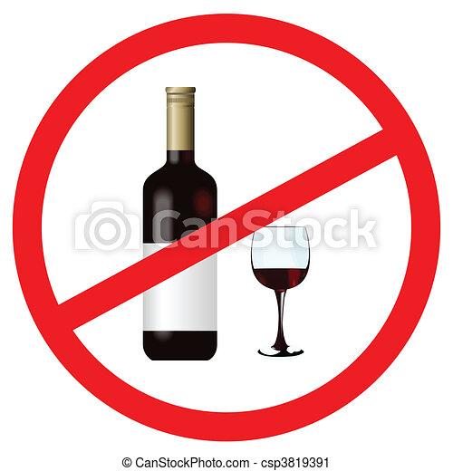 止まれ, アルコール, 印 - csp3819391