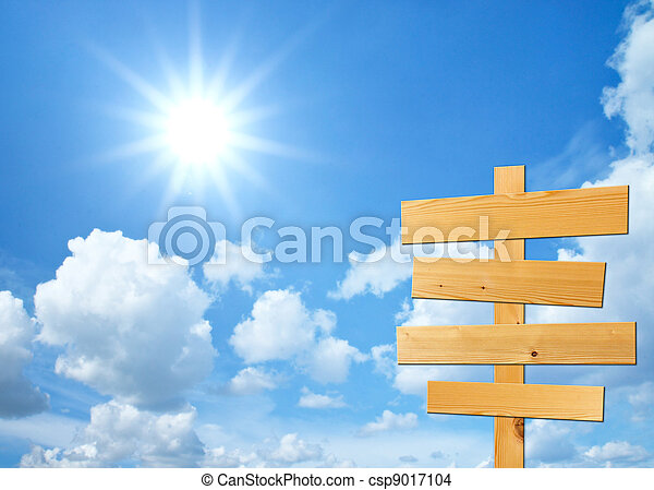 正文, 天空, 木頭, 背景, 簽署, 你 - csp9017104
