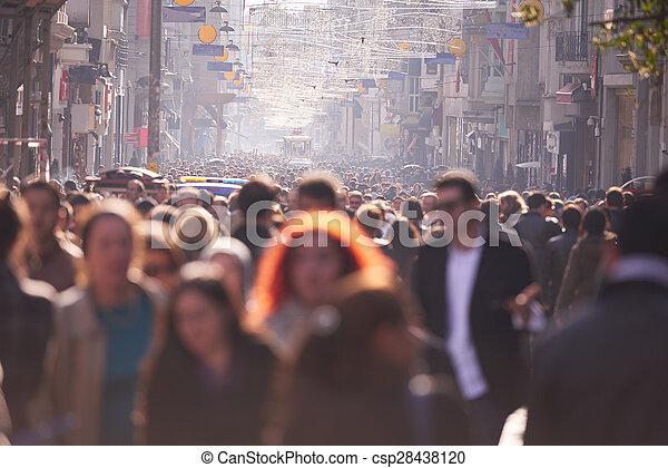 步行, 街道, 人群, 人們 - csp28438120