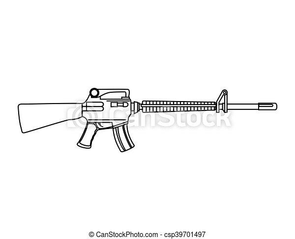 武器, submachine 銃 - csp39701497