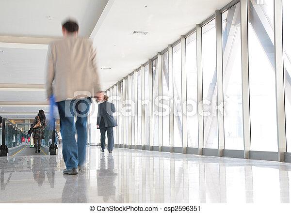 歩道橋, 人々 - csp2596351