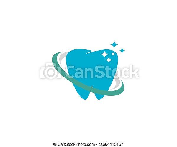 歯医者の, イラスト, ベクトル, デザイン, テンプレート, 微笑, ロゴ, アイコン - csp64415167