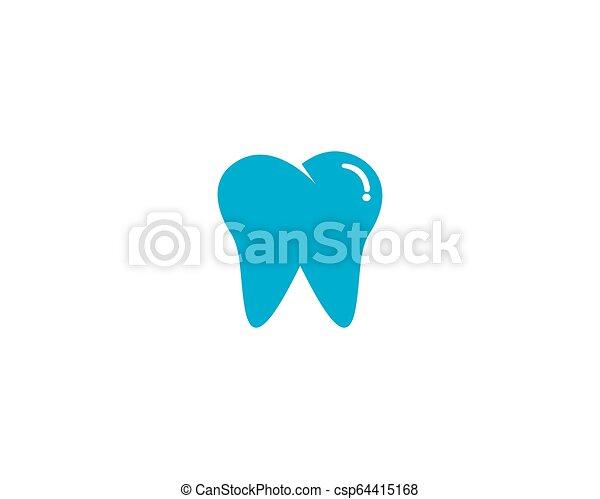 歯医者の, イラスト, ベクトル, デザイン, テンプレート, 微笑, ロゴ, アイコン - csp64415168