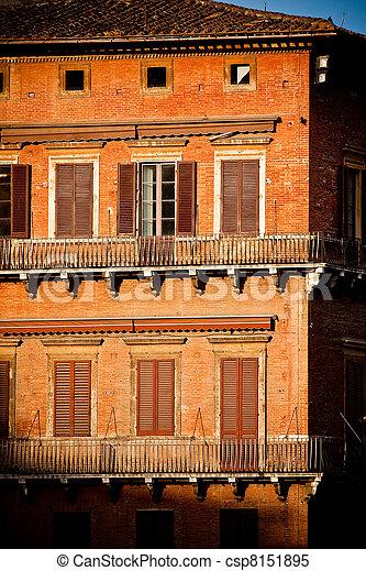 歴史的, 建築, siena - csp8151895