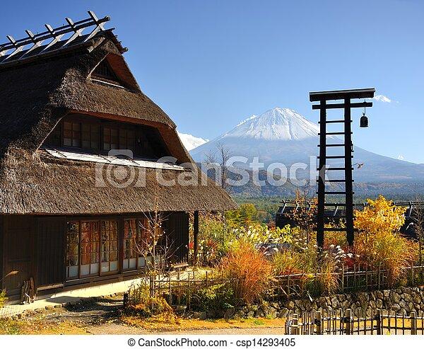 歴史的, 日本語, 小屋 - csp14293405