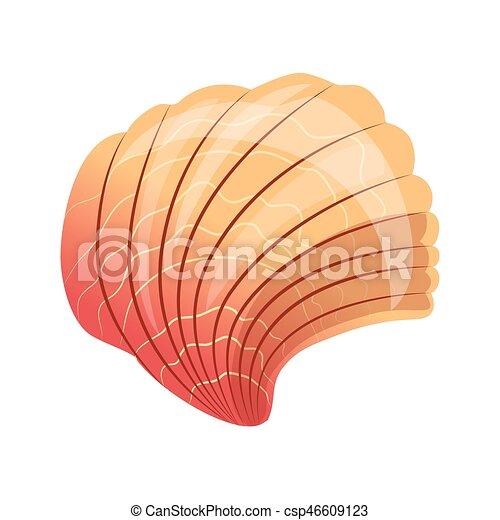 殻 カラフルである 貝殻 イラスト ホタテ貝 海 Mollusk 漫画 空
