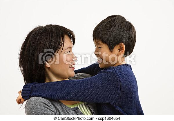 母, アジア人, 息子 - csp1604654