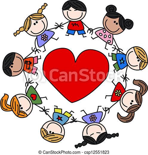 民族的で混ぜられた, 愛, 子供, 幸せ - csp12551823