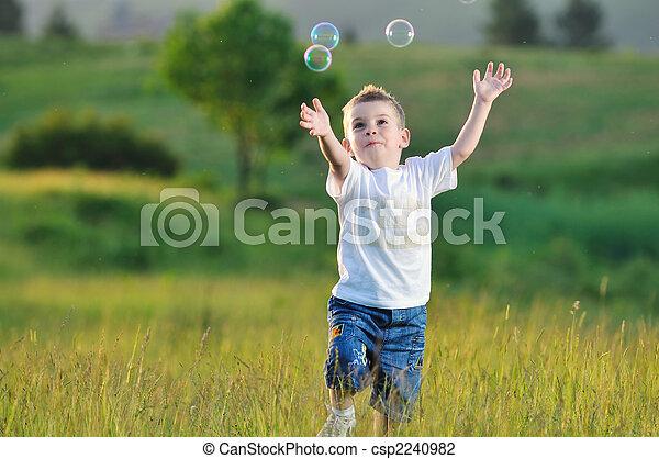 气泡, 孩子 - csp2240982