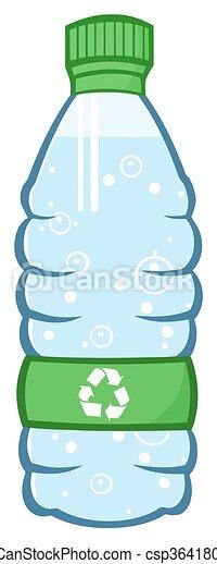 水のビン, プラスチック - csp36418016