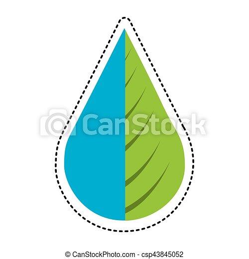 水プラント, 低下, 葉 - csp43845052