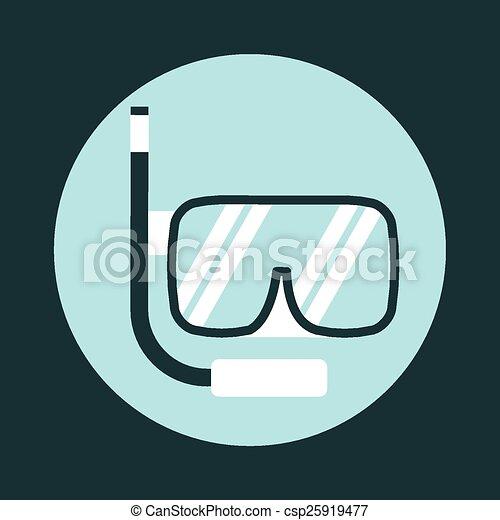 水下通气管, 圖象 - csp25919477