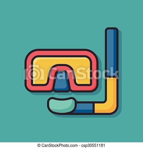 水下通气管, 圖象 - csp30551181