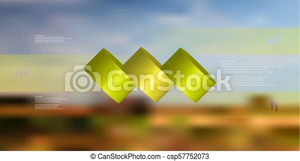 水平に, シリンダー, こぼされる, 3, イラスト, 薄く切られる, 部分, infographic, テンプレート, 3d - csp57752073