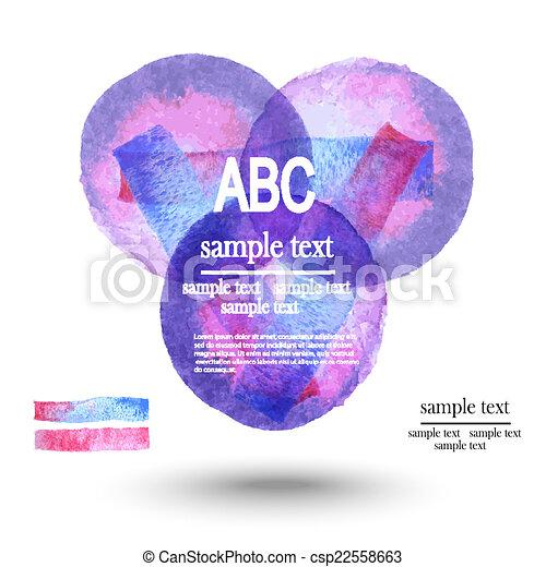 水彩画, テンプレート, infographics - csp22558663