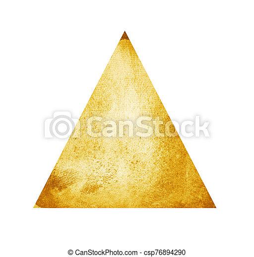 水彩画, 三角形, 白 - csp76894290