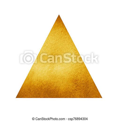 水彩画, 三角形, 白 - csp76894304