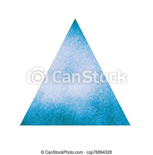 水彩画, 三角形, 白 - csp76894328
