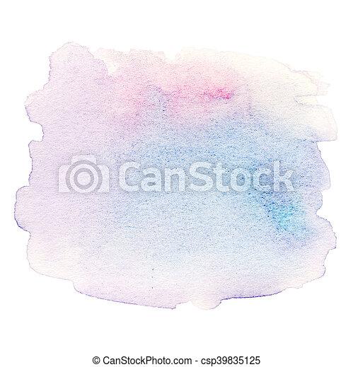 水彩画, 抽象的, 白い背景 - csp39835125