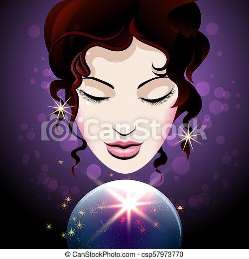水晶球, 幸運, 顔つき, 金銭出納...