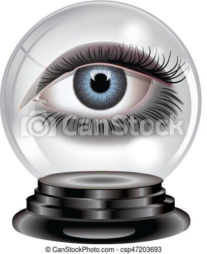 水晶球, 目 - csp47203693