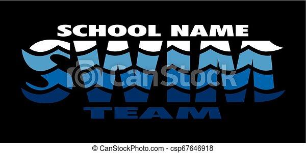 水泳, チーム - csp67646918
