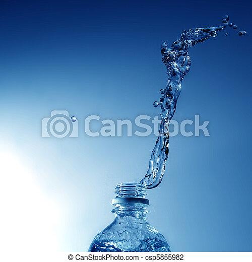 水, たたきつける - csp5855982