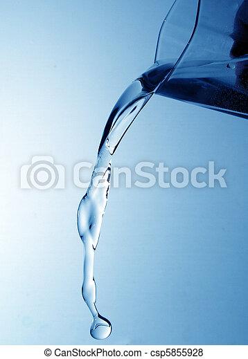 水, たたきつける - csp5855928