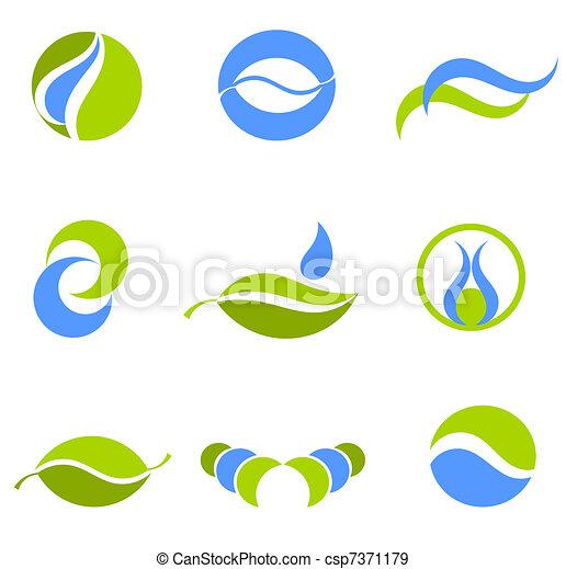 水, シンボル, 地球 - csp7371179