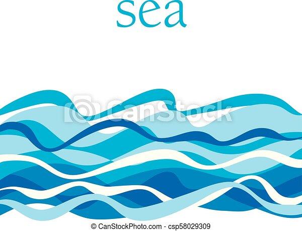 水 モチーフ Illustration Blu Pattern 表面 海洋 招待