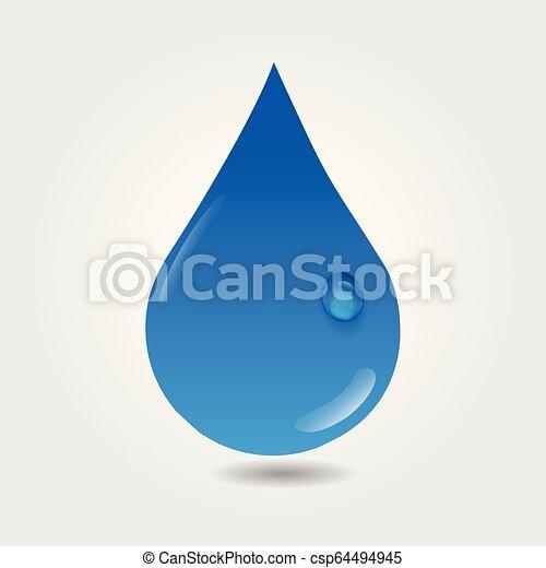 水, ロゴ, 低下 - csp64494945