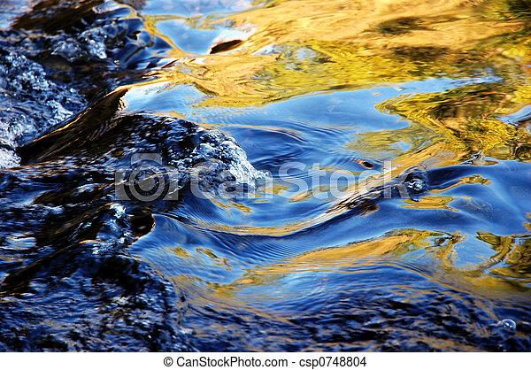水, 動くこと, 反射 - csp0748804