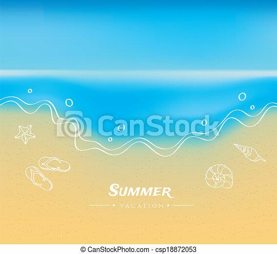 水, 夏, 砂, 背景 - csp18872053
