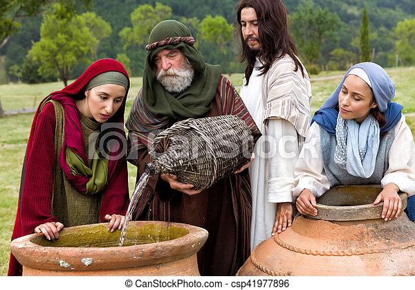 水, 奇跡, ワイン - csp41977896