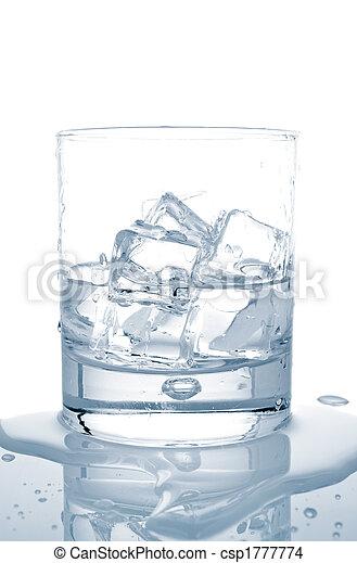 水, 立方体, 氷 - csp1777774