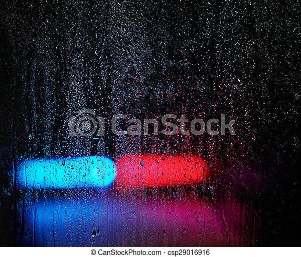 水, 緊急事態, 低下, ライト, 窓, 背景 - csp29016916