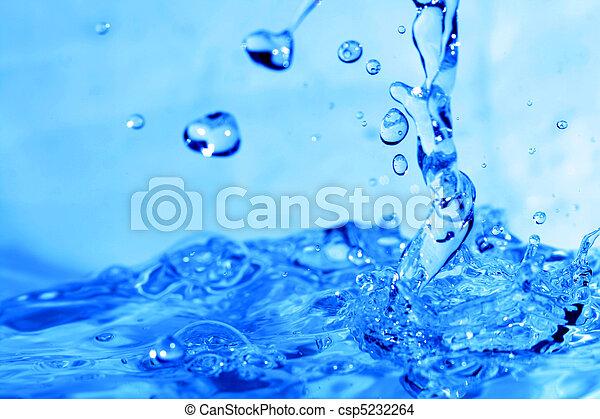 水, 飛濺 - csp5232264