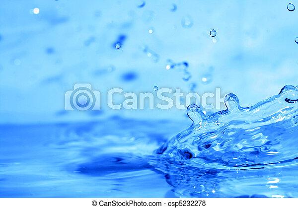 水, 飛濺 - csp5232278