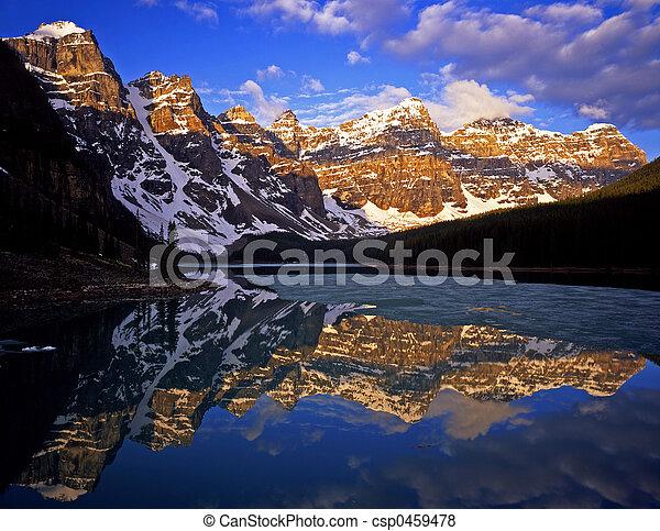 氷堆石, lake#4 - csp0459478