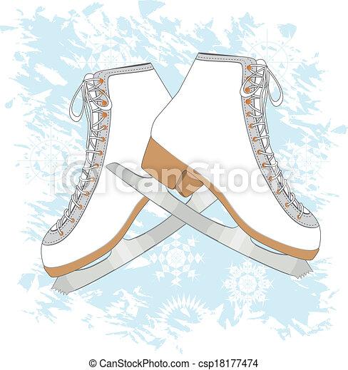 氷, 背景, スケート - csp18177474